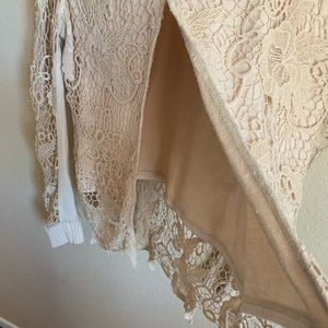 Free People Sweaters - Free People Lace Knit Sweater